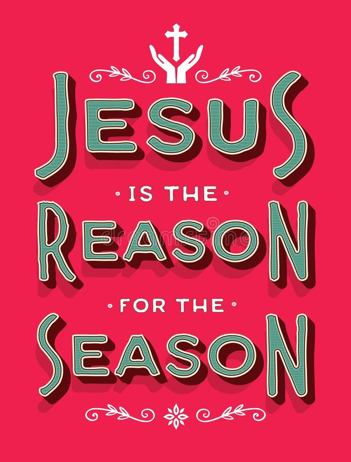 Иисус причина на сезон иллюстрация штока