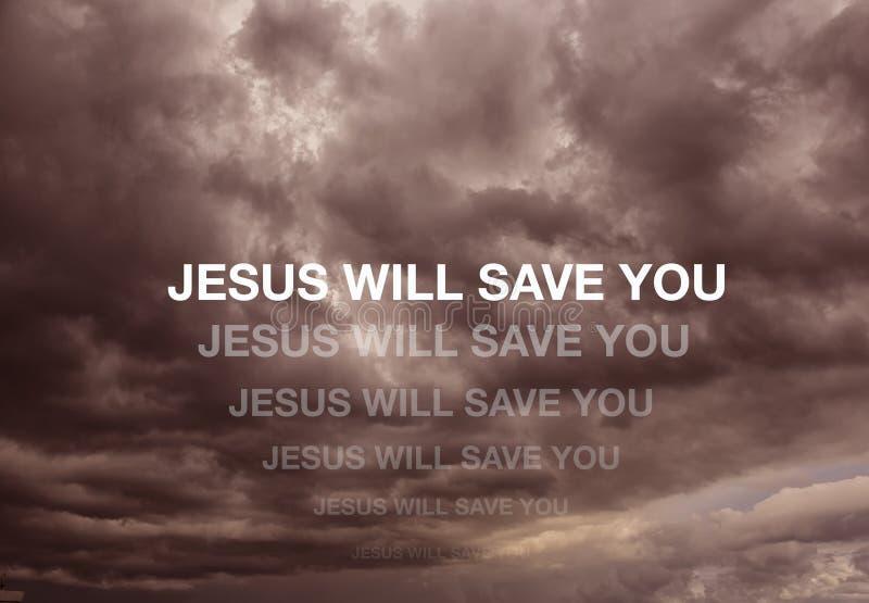 Иисус сохранит вас иллюстрация стоковые фотографии rf