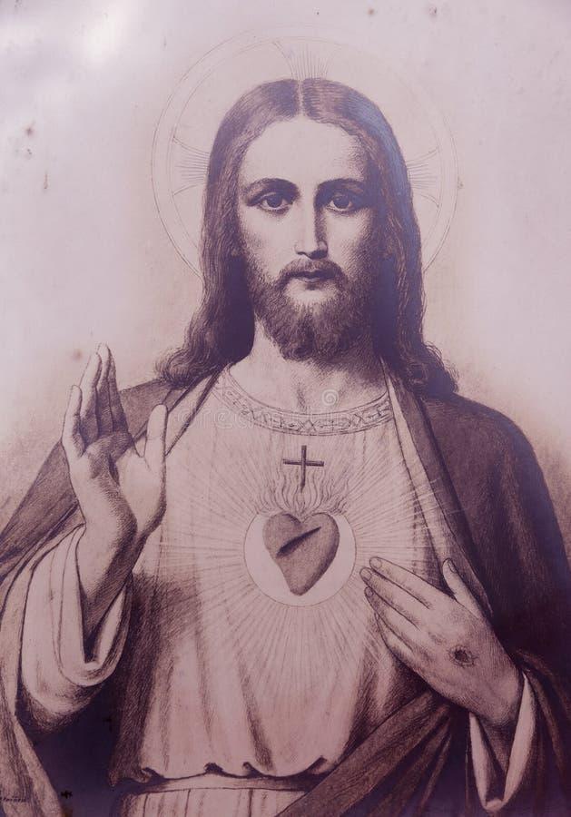 Иисус, сын бога стоковое изображение