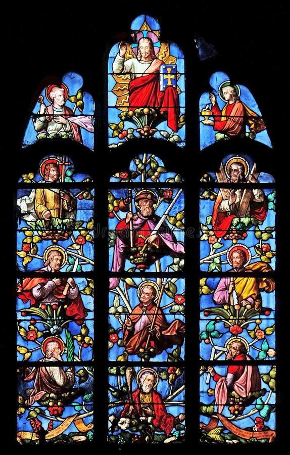 Иисус с апостолами стоковые фотографии rf