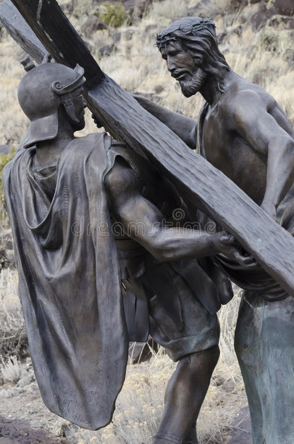 Иисус умер для нас стоковое изображение rf