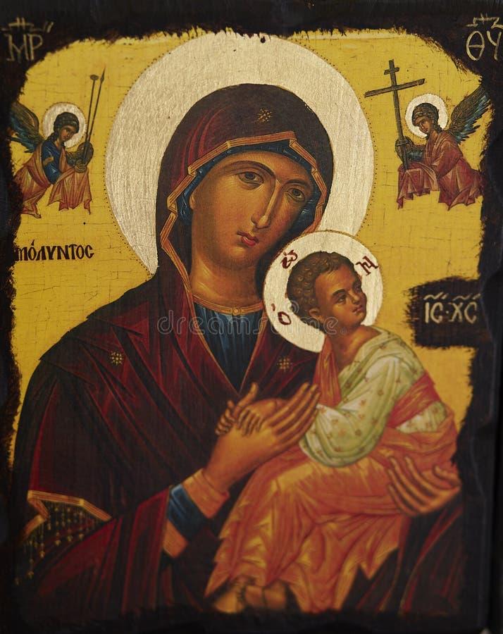 Иисус Христос девой марии и младенца стоковые изображения rf