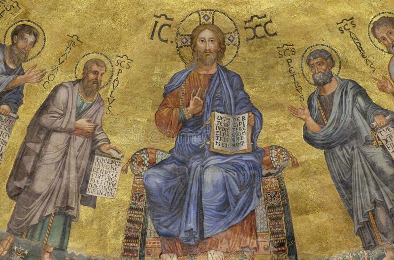 Иисус Христос и апостолы стоковое фото rf