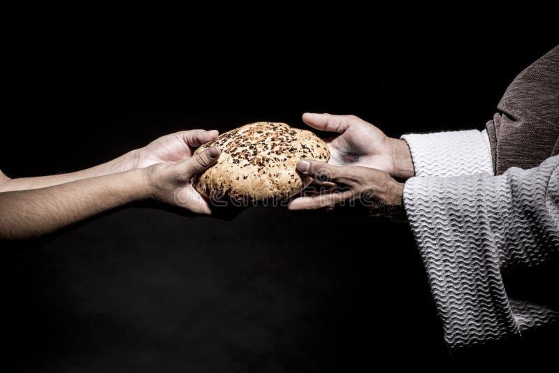 Иисус Христос моля перед голодать стоковое изображение