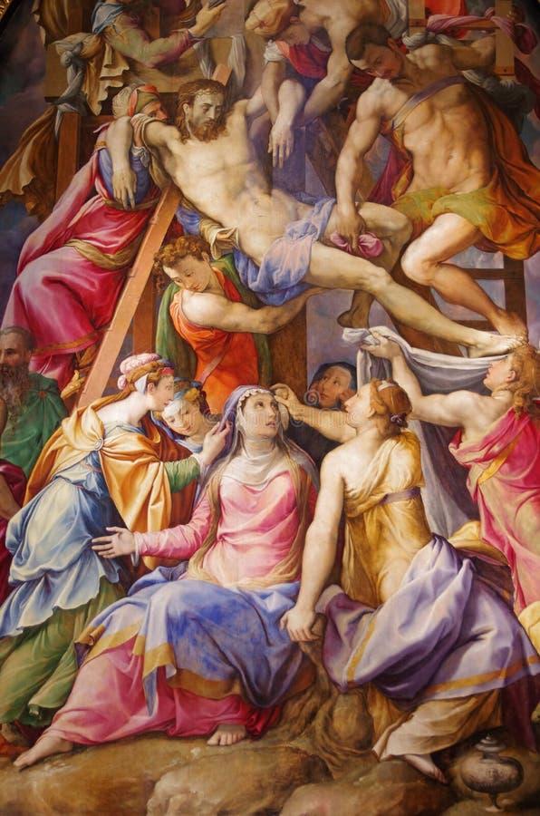 Иисус Христос - низложение от креста стоковые изображения rf