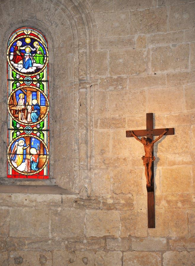 Иисус Христос распятый на кресте католический символ стоковые фотографии rf