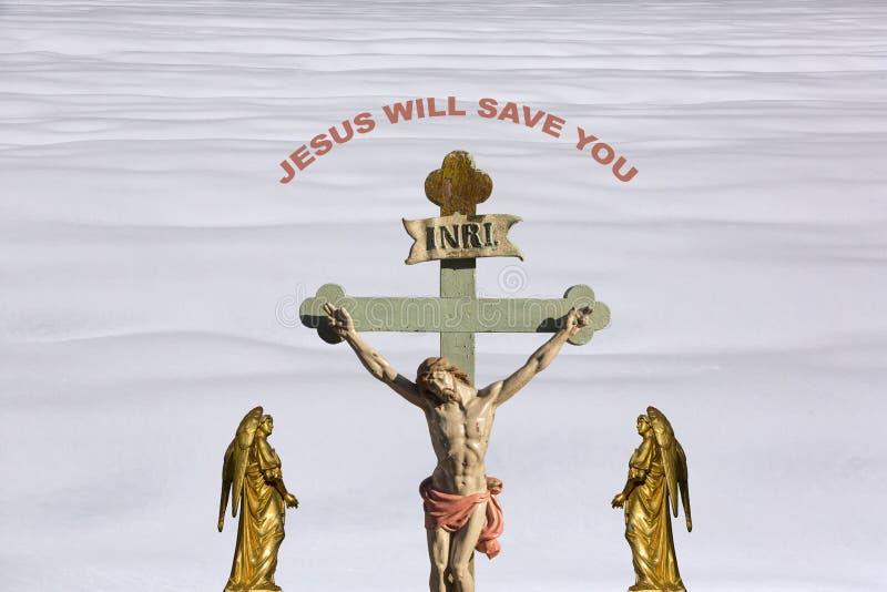 Иисус Христос - спасение стоковое фото rf