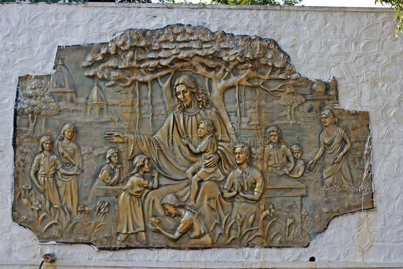 Иисус Христос с дети стоковые фотографии rf