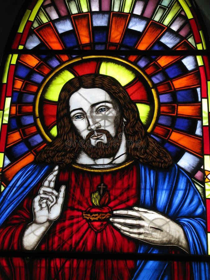 Иисус Vitral, церковь острова Vnezuela valle Маргариты del Virgen стоковые фотографии rf