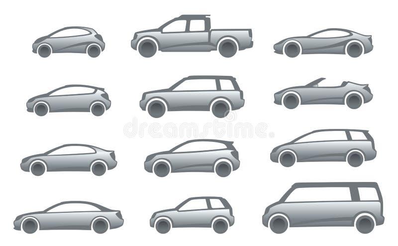 икона автомобилей иллюстрация вектора