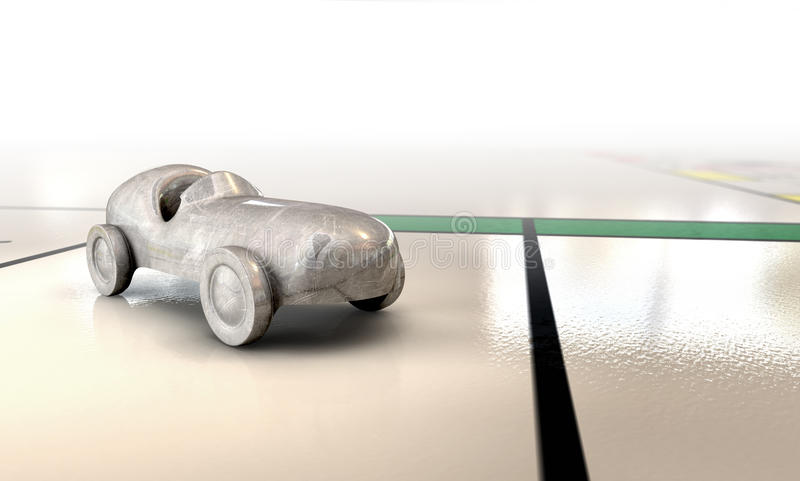 Икона автомобиля на Boardgame иллюстрация штока