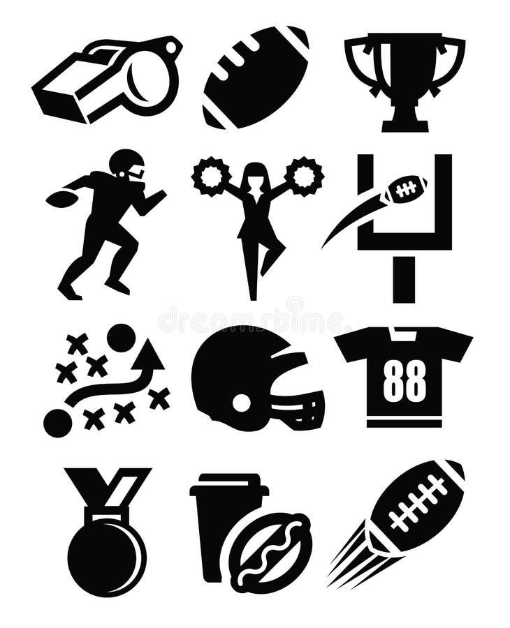 Икона американского футбола иллюстрация вектора