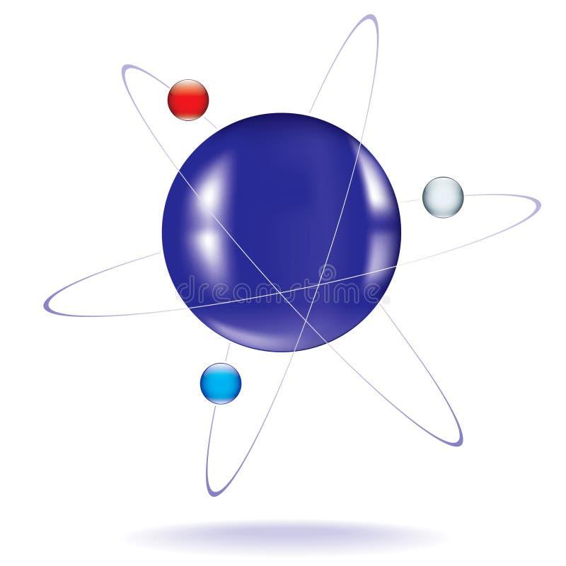 Икона атома бесплатная иллюстрация