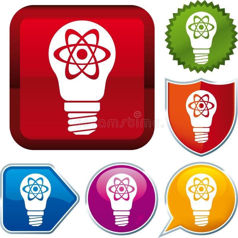 Икона атомной энергии иллюстрация вектора