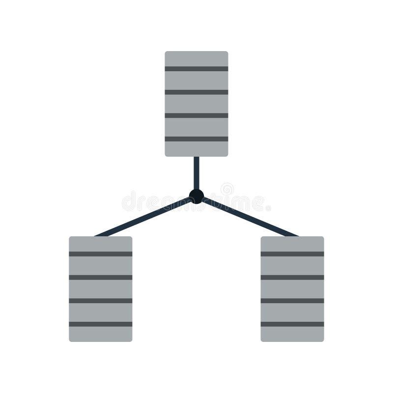 Икона базы данных иллюстрация вектора