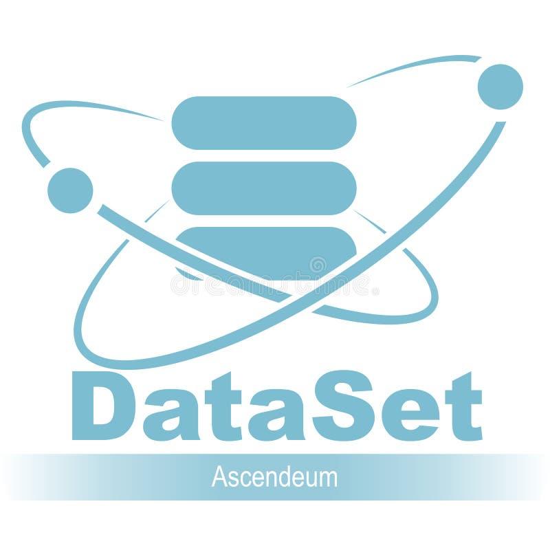 Икона базы данных Простой плоский логотип вектора базы данных 04 иллюстрация вектора