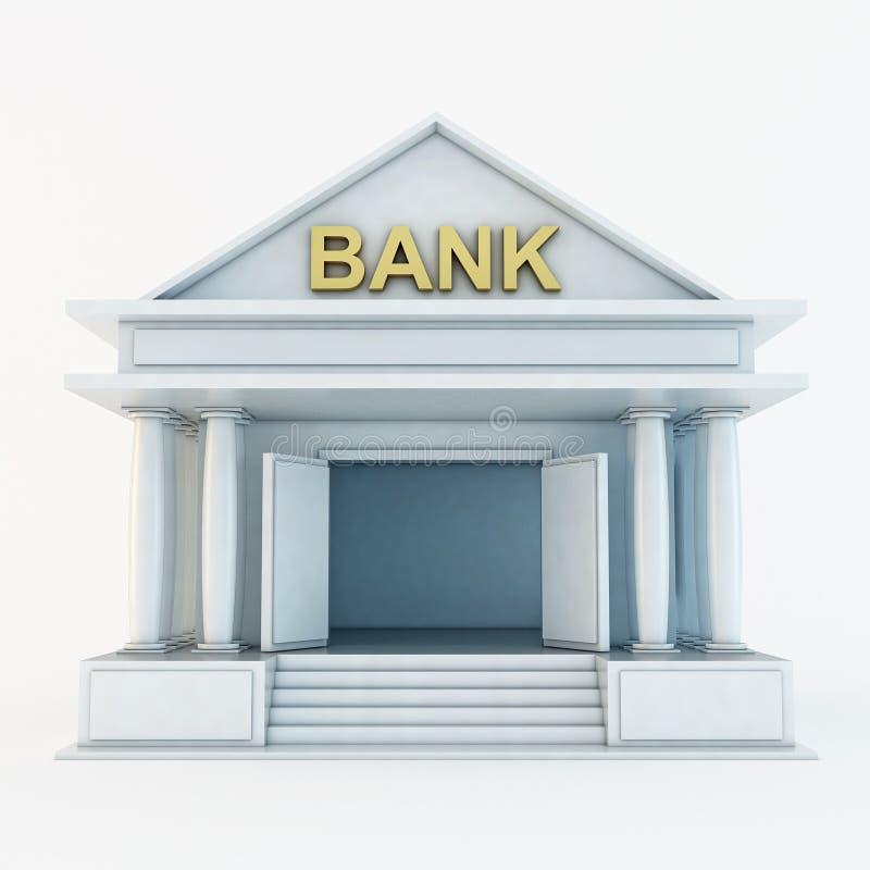 Икона банка 3d иллюстрация вектора