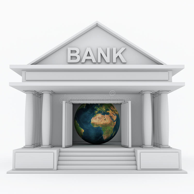 Икона банка 3d бесплатная иллюстрация