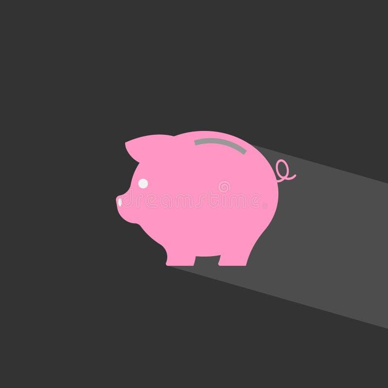 икона банка piggy диаграмма сбережениа дег банка piggy кладя бесплатная иллюстрация