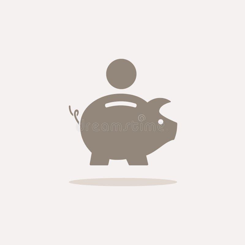 икона банка piggy иллюстрация вектора
