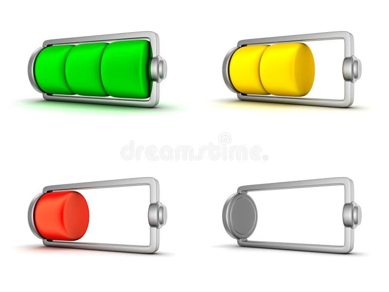 Икона батареи иллюстрация штока