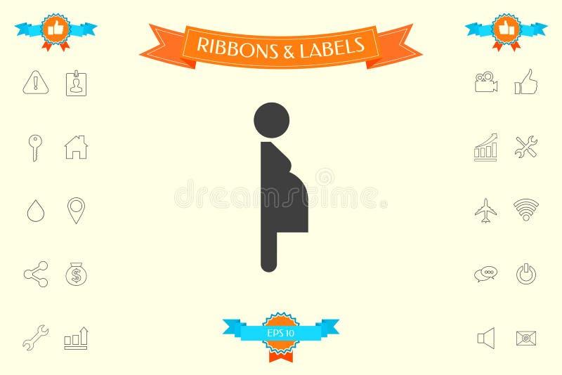 Икона беременной женщины иллюстрация вектора