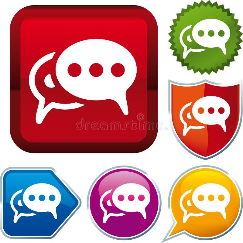 Икона беседы пузыря иллюстрация штока