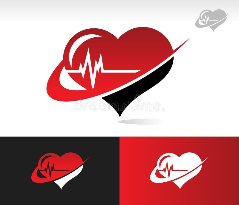 Икона биения сердца Swoosh бесплатная иллюстрация
