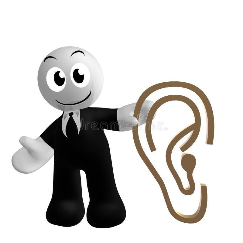Икона бизнесмена с символом уха бесплатная иллюстрация