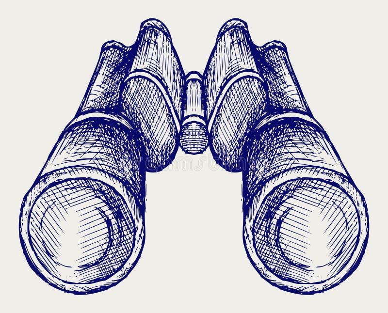 Икона биноклей иллюстрация штока