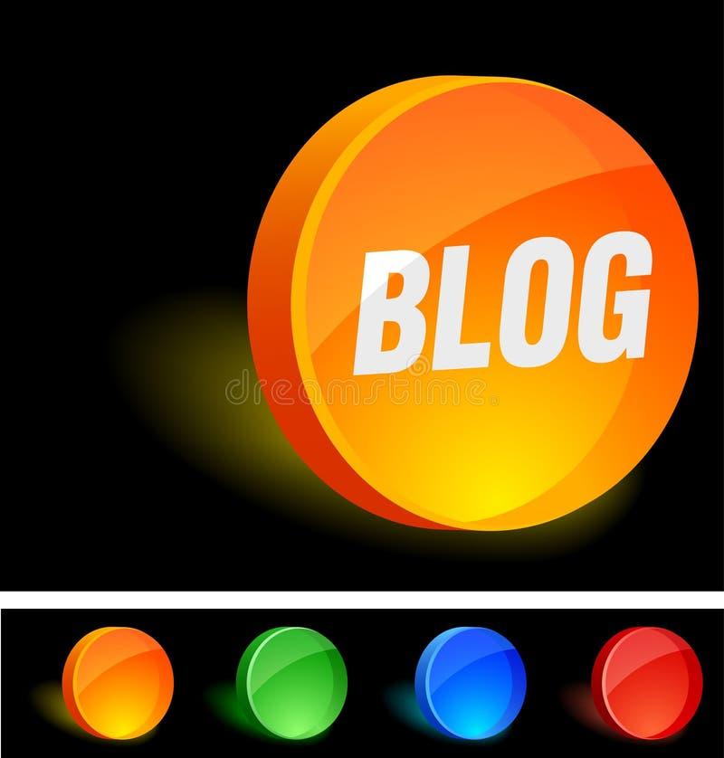 икона блога иллюстрация штока