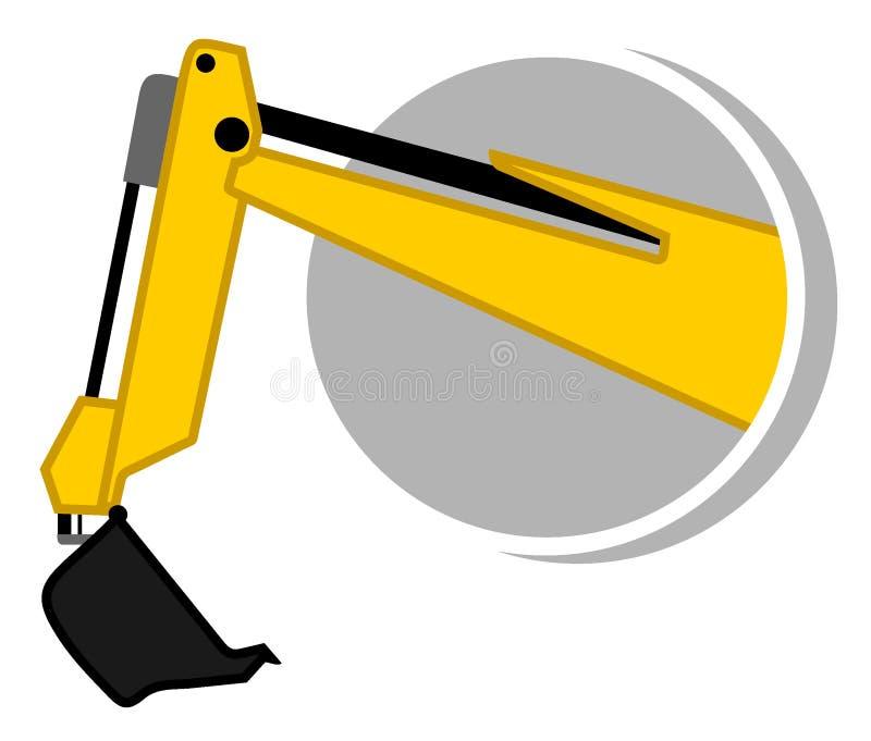икона бульдозера рукоятки иллюстрация вектора