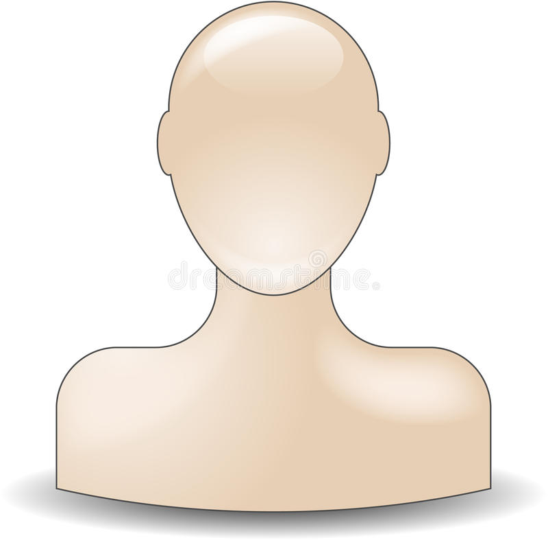 икона бюста приятеля иллюстрация штока