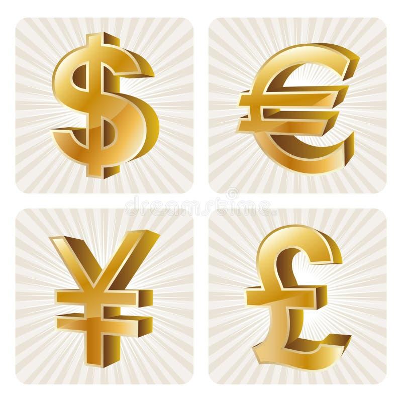 икона валюты 3d иллюстрация штока