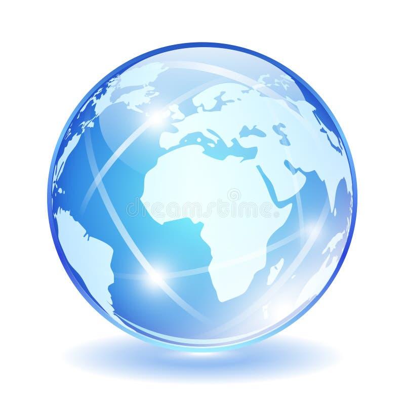 Икона вектора глобуса иллюстрация вектора