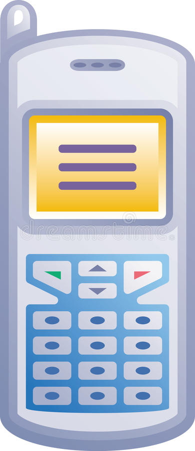 Икона вектора мобильного телефона иллюстрация штока