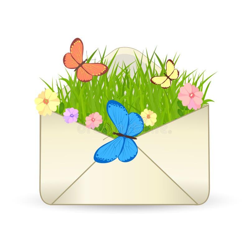 Икона вектора электронной почты лета иллюстрация вектора