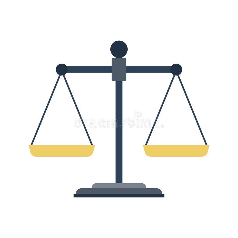 Икона весов правосудия иллюстрация вектора