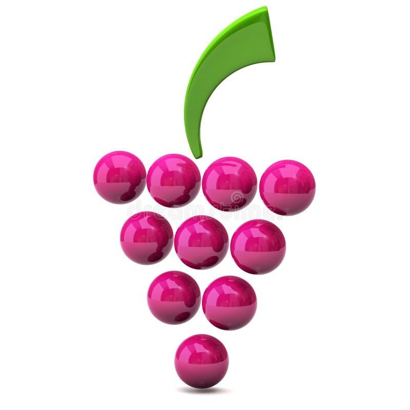 икона виноградины иллюстрация штока