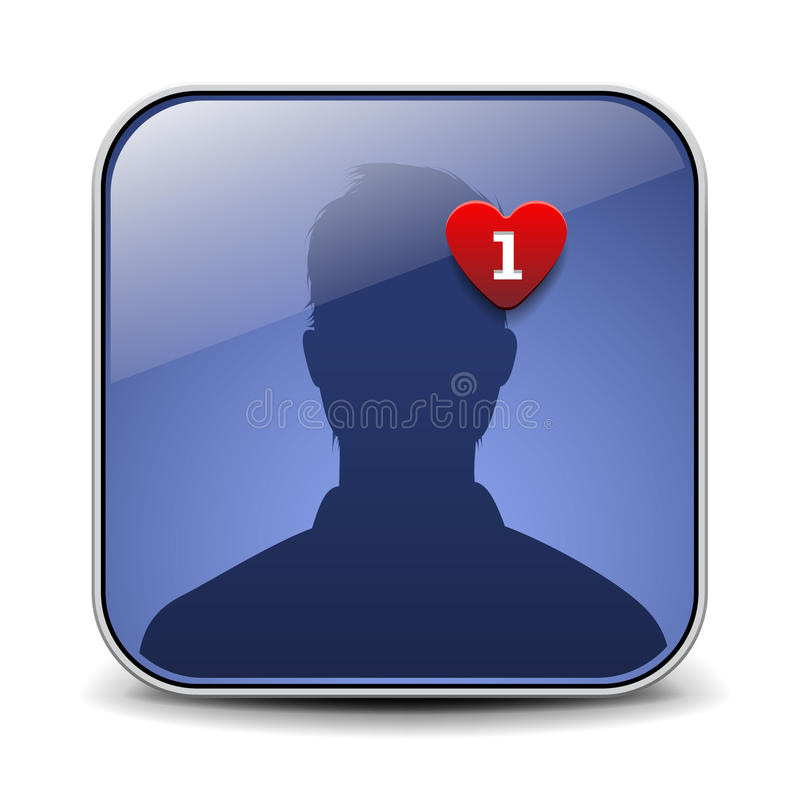 Икона воплощения пользователя Стоковые Фото