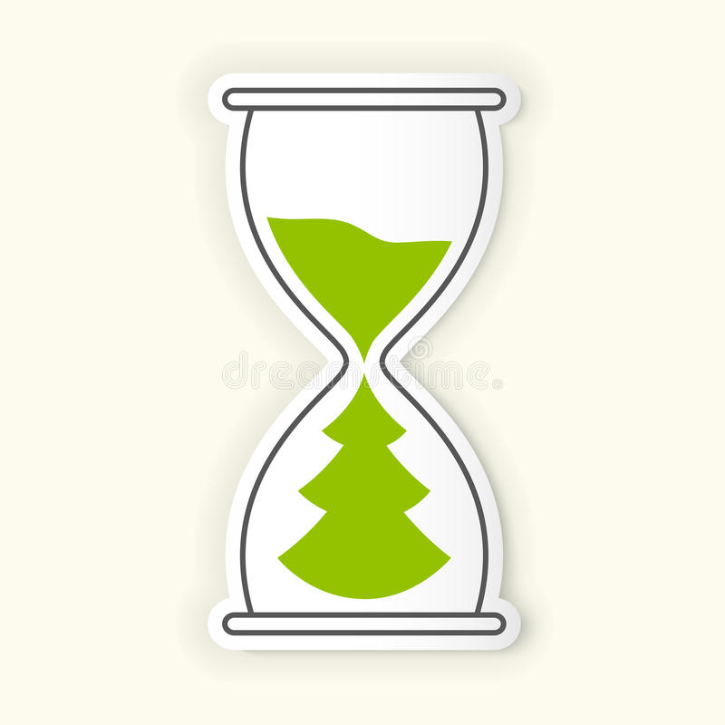 Икона времени Hourglass иллюстрация штока