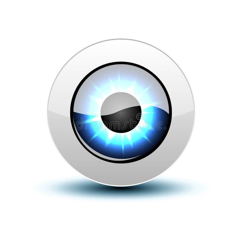 Икона глаза вектора бесплатная иллюстрация