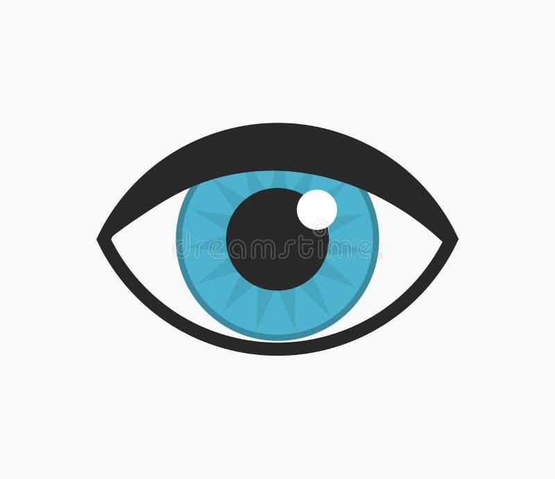 икона голубого глаза иллюстрация штока
