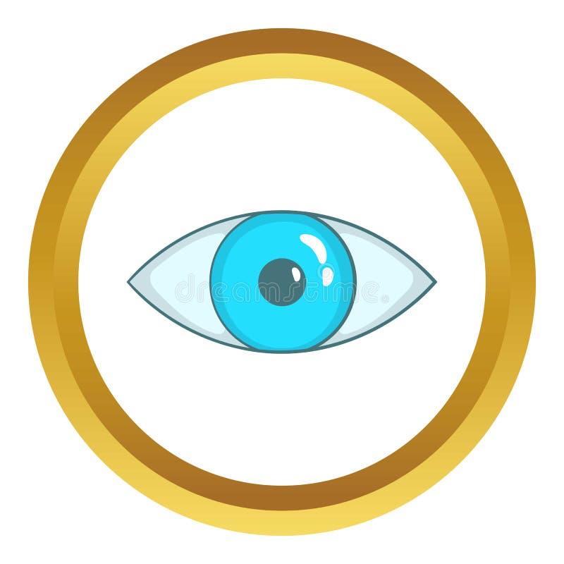 икона голубого глаза бесплатная иллюстрация