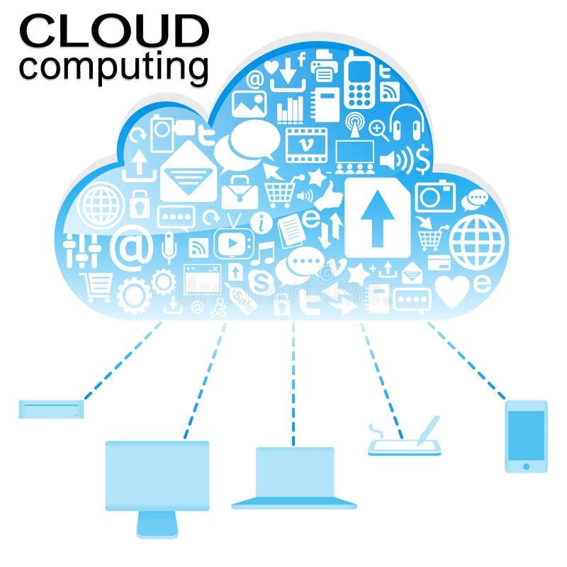 икона голубого облака вычисляя иллюстрация штока