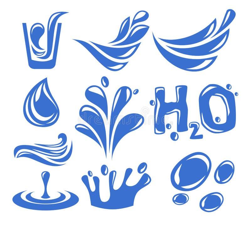Икона воды иллюстрация штока
