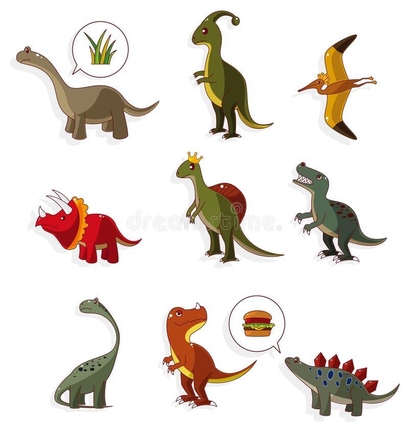 икона динозавра шаржа иллюстрация штока