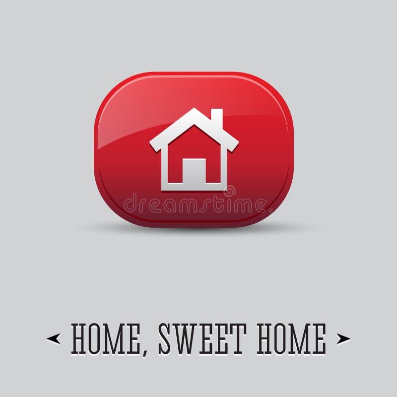 икона дома вектора 3d. Дом, сладостный дом иллюстрация вектора