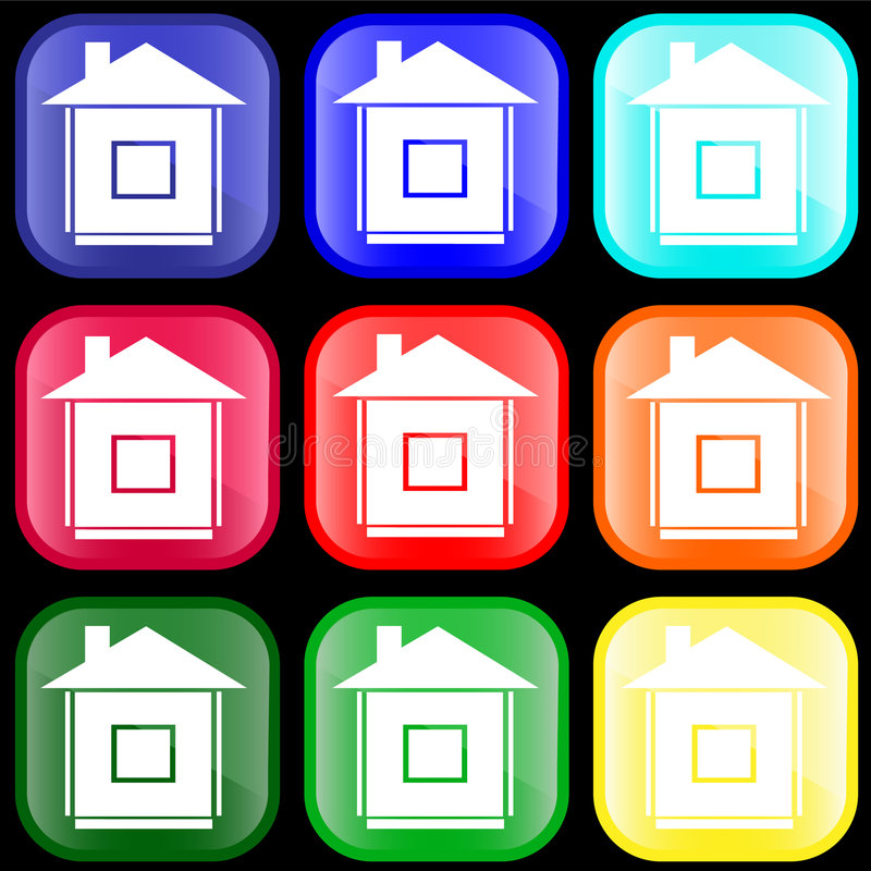 икона дома кнопок иллюстрация вектора