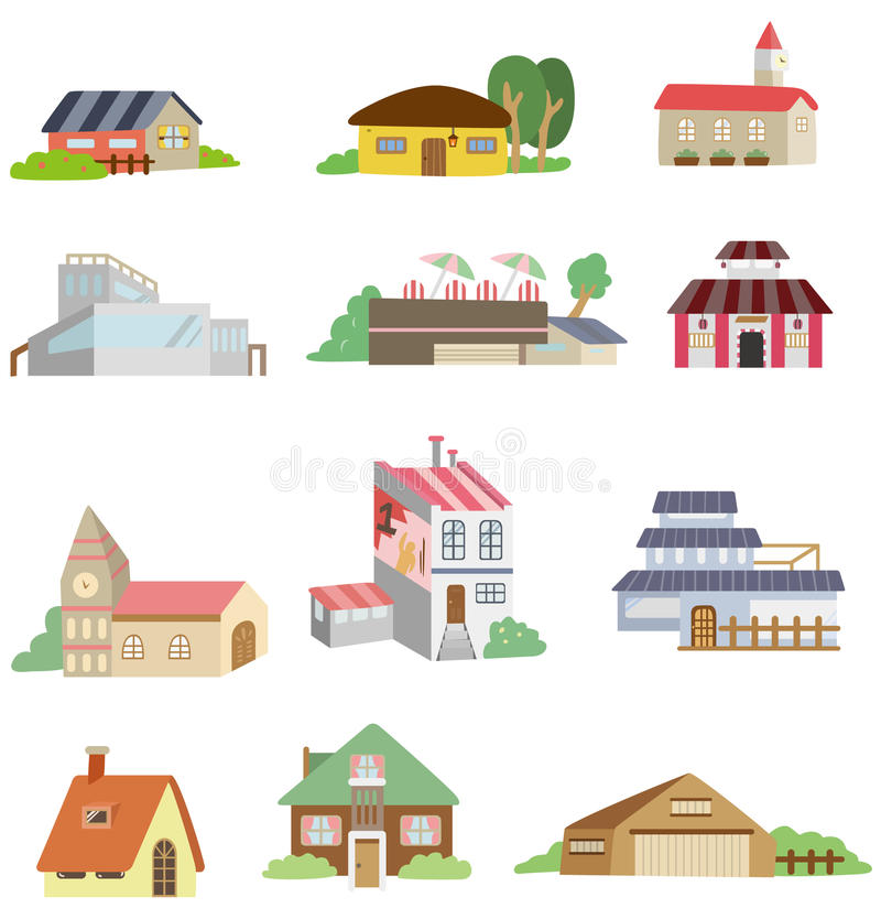 икона дома шаржа иллюстрация штока